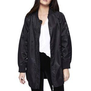 Sanctuary long bomber jacket